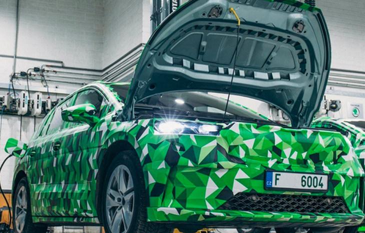 斯柯达首款纯电动SUV预告图发布 将8月份亮相
